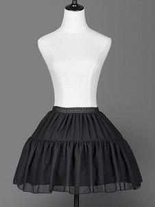 Falda enagua de Lolita Ruffle plisada gasa Underskirt de Lolita
