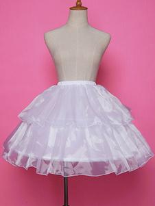 Sottogonna in Lolita bianca con gonna a sottoveste in chiffon a righe