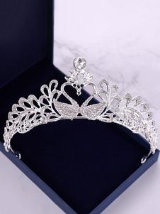 Tiara de casamento coroa real headpieces princesa prata swan strass nupcial acessórios para o cabelo