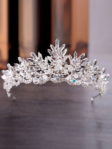 Royal Wedding Tiara Crown Silver Headpieces Princess Rhinestones Vintage Nupcial Accesorios para el cabello