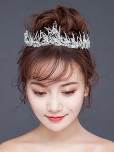 Свадебные Тиара Корона Королевские Головные Уборы Принцесса Стразы Жемчуг Свадебные Аксессуары Для Волос
