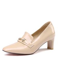 Scarpe eleganti da donna Punta tonda Décolleté in chunky con dettaglio in metallo