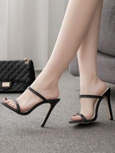 Sandália De Salto Alto Chinelos Mulheres Abertas Toe De Salto Alto Stiletto Salto Sandália Sapatos