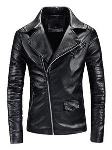 Мужская кожаная куртка на молнии Surplice Metallic Air Force PU Куртка для мотоцикла