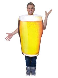 Еда Костюм Пиво Взрослые Унисекс Желтые прикольные костюмы Хэллоуин