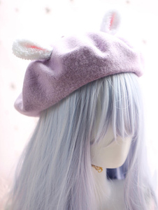 الحلو لوليتا قبعة صوف بوم بوم أرنب الأذن لوليتا بيريت