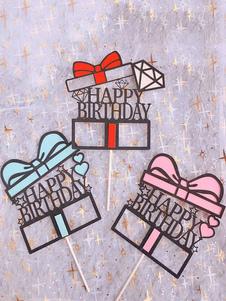 عيد الرعبكعكة توبر بطاقات ورق عيد ميلاد سعيد زينة الحزب
