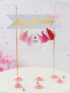عيد الرعبكعكة القبعات العالية جارلاند عيد ميلاد سعيد الديكورات