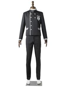 Carnevale Danganronpa cosplay costume Gioco in panno uniforme uomo pantaloni&cappello&cappotto Carnevale