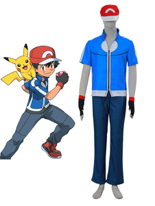 Carnaval Pocket Monster Pokemon Go Halloween Ash Ketchum Disfraz / Traje de Cosplay
