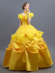 Красота и Чудовище Костюм 2020 Белье Косплей Бальное платье Платье Экипировка Хэллоуин