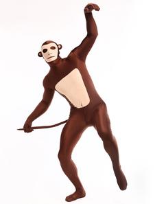 نمط القرد سيدات البنى الداكن كامل الجسم يكرا يكرا خاصة دنه زينتاي الحيوان