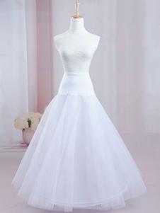 Calidad doble neto enagua de línea a gran boda nupcial Petticoat