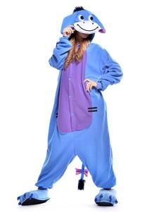Disfraz Carnaval Dulce azul pequeño Burro Kigurumi traje Halloween Carnaval