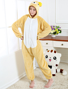 Kigurumi Pajama Urso Onesie Champagne Flannel Animal Pijamas Para Adultos Halloween