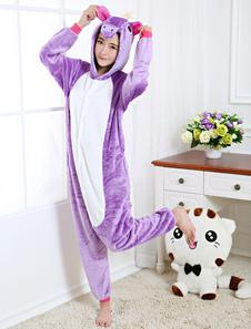 Disfraz Carnaval Disfraz de Kigurumi Pijama Unicornio 2020 Adulto Morado Unicornio para Mardi Gras estilo Unisex para Adultos Halloween Carnaval