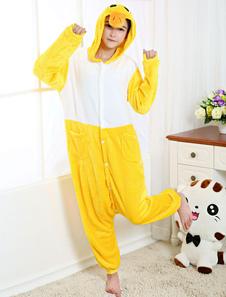 Disfraz Carnaval Disfraz de Kigurumi Adulto amarillo de pato para Mardi Gras estilo unisex para adultos Halloween Carnaval