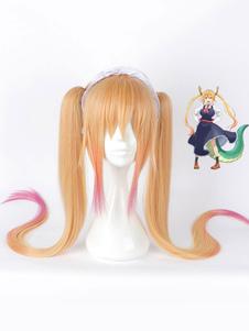 Мисс Кобаяси Дракон горничная Тору косплей парик Хэллоуин