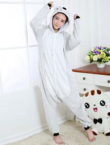 Disfraz Carnaval Disfraz de Kigurumi Adulto gris tema de animal para Mardi Gras estilo unisex para adultos Halloween Carnaval