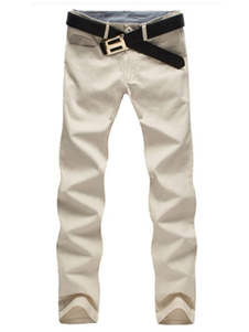 Mezcla de algodón pantalones recto elegante para los hombres