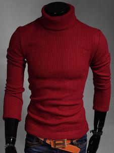 Ролл шеи полиэстер формирование пуловер для мужчин
