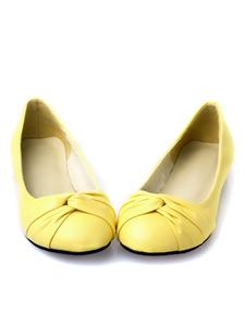Zapatos planos de puntera redonda slip-on Planos para mujer para ocasión informal estilo moderno Color liso