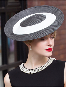 Женщин в Дерби Hat два тона Винтаж черный заслонки шляпа Хэллоуин