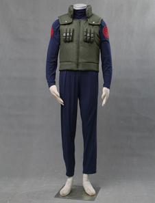 Costume Carnevale Naruto cosplay completi per uomo top pantaloni gilet