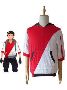 Pocket Monster Pokemon GO Trainer masculino jaqueta do Avatar Anime Cosplay Halloween