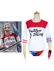 Carnevale Lucca Comics 2020 T-Shirt Di Batman Suicide Squad Harley Quinn Costume Cosplay Halloween