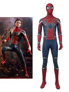 Traje 2020 De Vingadores 3 Homem Aranha Peter Parker Deluxe Edition Halloween Cosplay Costume