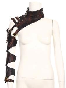 Steampunk Armwear Bolero Retro PU Leather Buckle Performance Props Acessórios Halloween