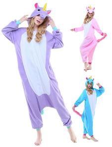 Disfraz Carnaval Pijama Kigurumi Pijama Unicornio 2020 Mono Adultos para Hombres y Mujeres de Franela Disfraz de Animal de Halloween Carnaval