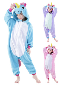 Kigurumi Pajama 2020 Pink Licorne Единорог Onesie Kid Фланелевые Пижамы Костюм Хэллоуин