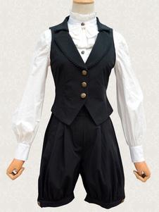 Классическая Лолита наряды черный жилет и шорты костюмы Лолита