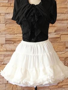Lolita branco Petticoat hierárquico elegante laço do poliéster Petticoat