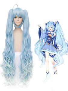Vocaloid Snow Miku Hatsune Miku تأثيري الباروكة هالوين