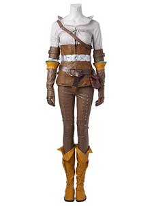 Ведьмак 3: Дикая охота Cirilla Хэллоуин косплей костюм Хэллоуин