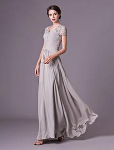 Vestidos de fiesta largos Vestido de noche con escote en corazón y pliegues Vestidos de boda para huéspedes