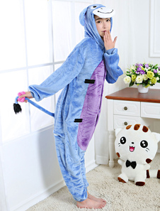 Disfraz Carnaval Pijama Kigurumi burro lana de franela animal espalda con cremallera Halloween Carnaval
