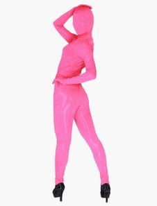 透明人間コスチューム 全身タイツピンク ベルベット 絹 シルク透明 ゼンタイスーツ フルボディ 男女兼用 ユニセックス 大人用 変装パーティー 宴会 歓送迎会 クリスマス ハロウィン 忘年会 余興 誕生日 仮装 ハロウィン