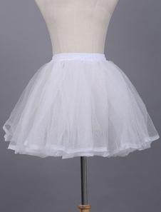 Lolita branco laço anágua poliéster Petticoat