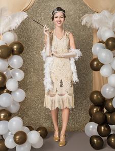 1920s زي الزعنفة اللباس خمر غاتسبي العظيم اللباس2020