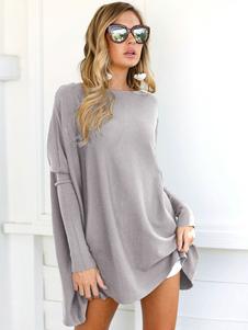 Негабаритные женские свитера Batwing с длинным рукавом из свитера