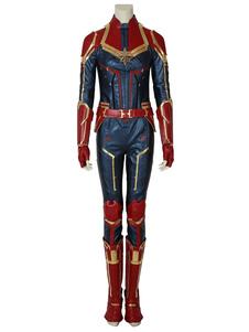 Capitão Marvel Ms Marvel Carol Danvers Halloween Traje Cosplay 2020