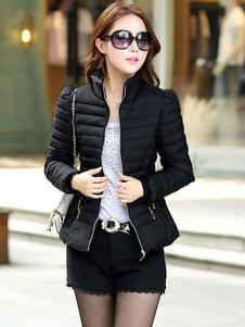 Женская стеганная теплая куртка для зимы с наполнителем из синтепуха
