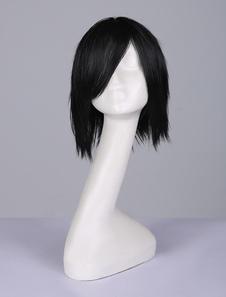 Carnevale Naruto Uchiha Sasuke Parrucca cosplay nera parrucca anime Giapponese parrucca resistente al Calore in Fibra