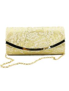 Кружева Свадебные сумки для муфты Женские вечерние сумочки для вечеринок