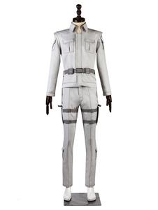 Клетки на работе Белый Клетка Хэллоуина Cosplay Costume Deluxe Version