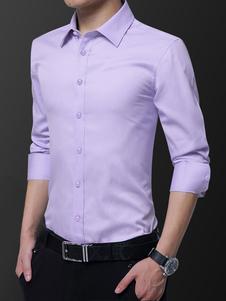 Формальная мужская рубашка с длинным рукавом на флисовой подкладке